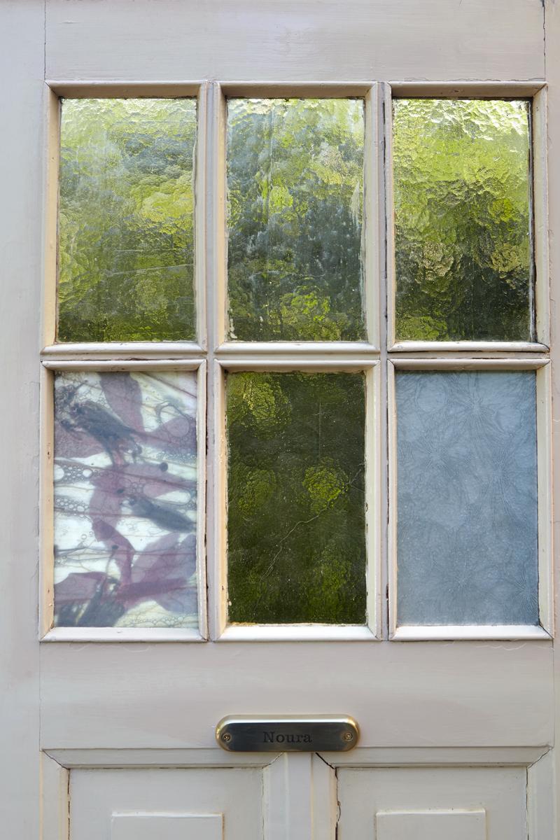 Deurdecoratie, Glasfoto, Interieur