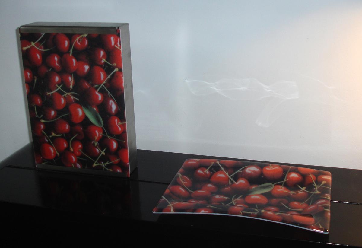 Glas schaal, Glasfoto, Relatiegeschenk, Tafellamp