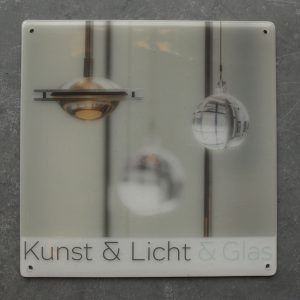 Glastegel, Glasfoto, Glas naambordje, Relatiegeschenk